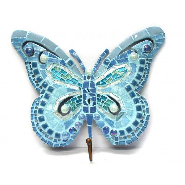 Kit mosaique papillon bleu avec crochet