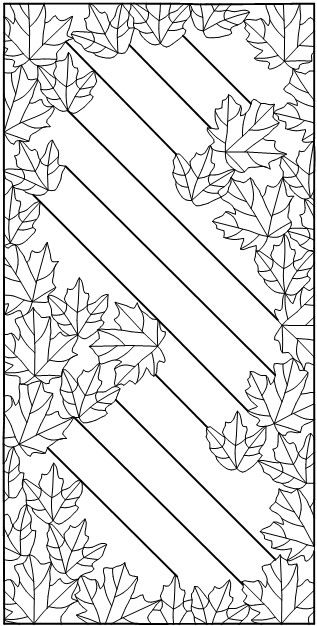 Autumn Leaves pattern. I wonder if I could turn this into a quilting pattern for a table runner..,