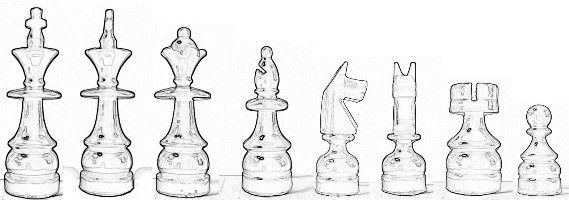 Free Printable Wood Carving Patterns | Free Chess Set Pattern from Little Shavers
