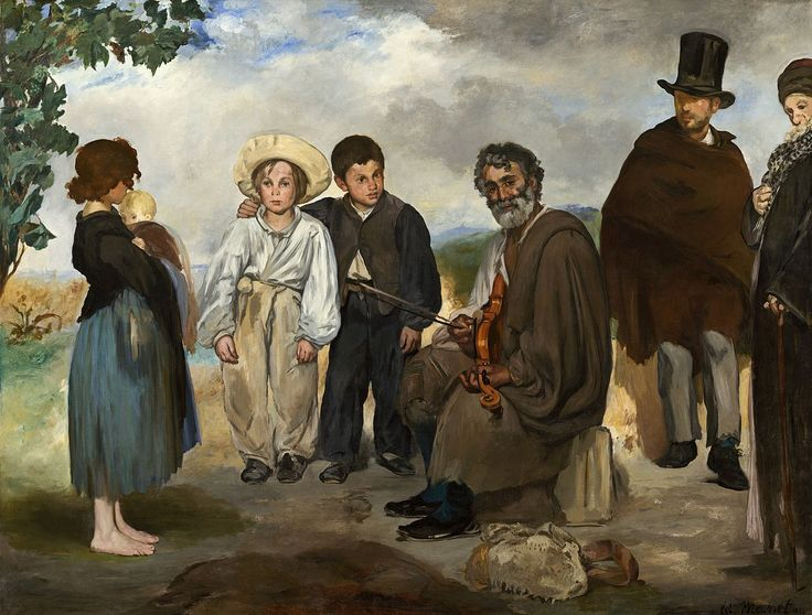 Édouard Manet, IL VECCHIO MUSICISTA, 1862, 1,87 m x 2,48 m, Colore ad olio, National Gallery of Art