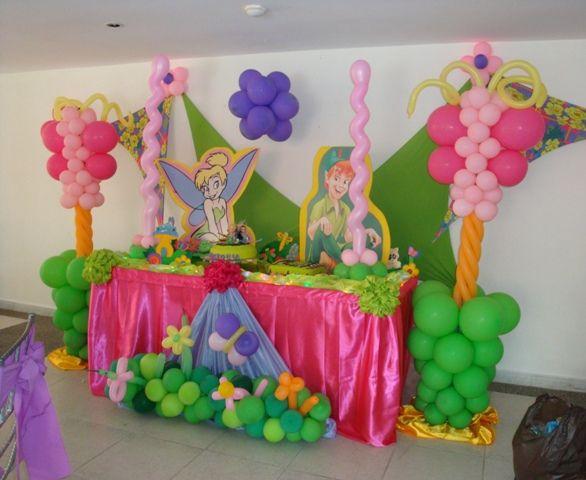 Fiesta campanita mesa fantasia globos para fiestas for Decoracion de frutas para fiestas infantiles