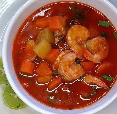 Caldo de camarón-Esta super yummy!!