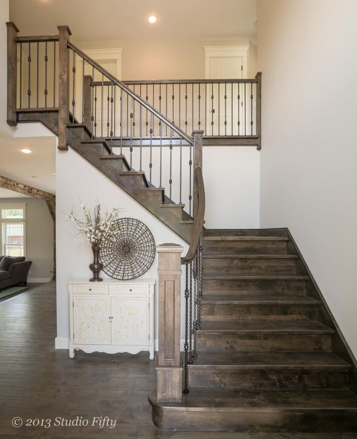 Sloid Alder flared stair with custom flat panel box newel post