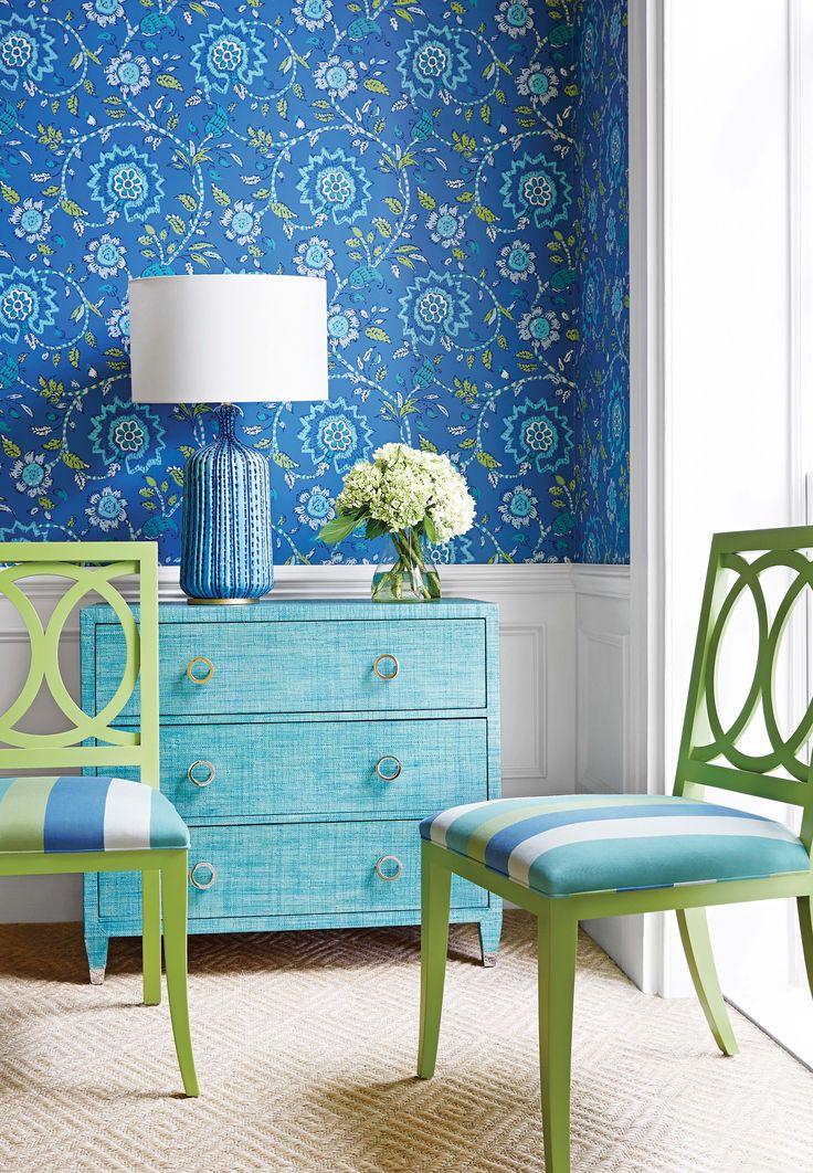 Thibaut Fine Furniture Market Square 260 Sevita Blue