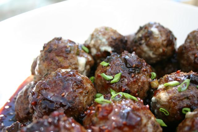 """Bleu Balls of Fire  with Raspberry Chipotle Sauce from """"Cook Like a Caterer"""""""