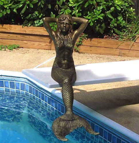 17 best images about mermaid mania on pinterest indoor for Outdoor pool sculptures