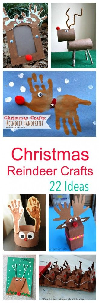 Reindeer crafts for kids - perfect for winter crafting over the Christmas holiday season!