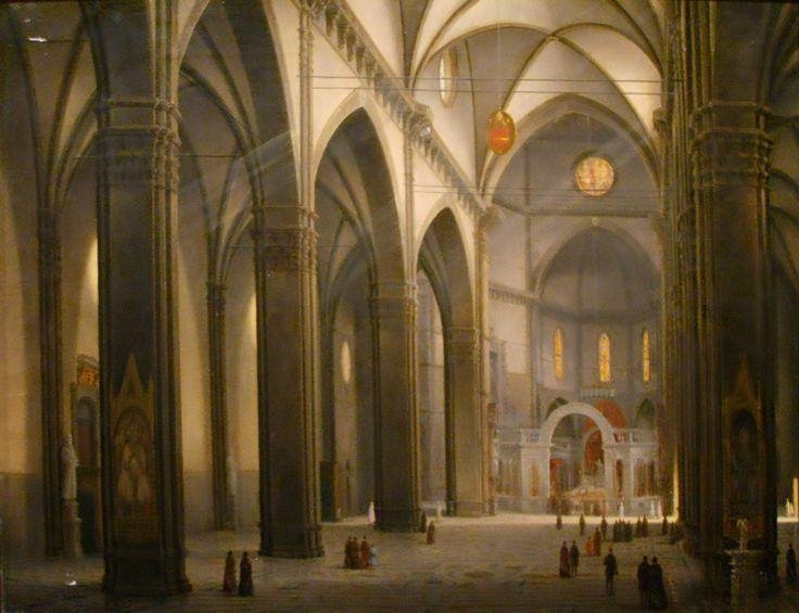 """""""Interno del Duomo di Firenze"""" Fabio Borbottoni (1820–1902)  Cassa di Risparmio di Firenze Collection"""