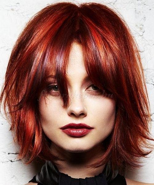 rövid női frizurák - rövid lépcsőzetes frizura
