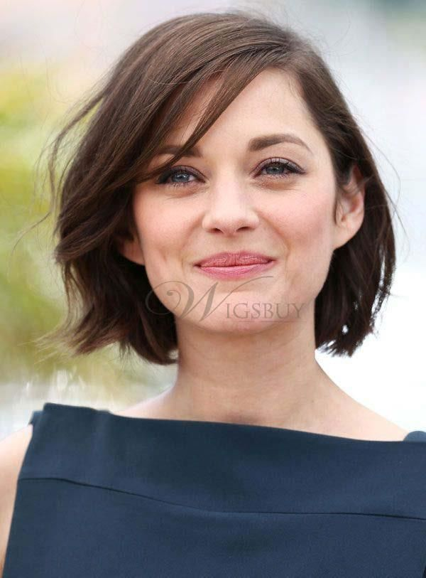 Graceful Short Straight Hairstyle Lace Front 100% Human Hair Wig about 10 Inches