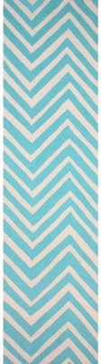 Nuloom HJHK04L-26010 Heritage Collection Aqua Finish Hand Hooked Chevron Area rug