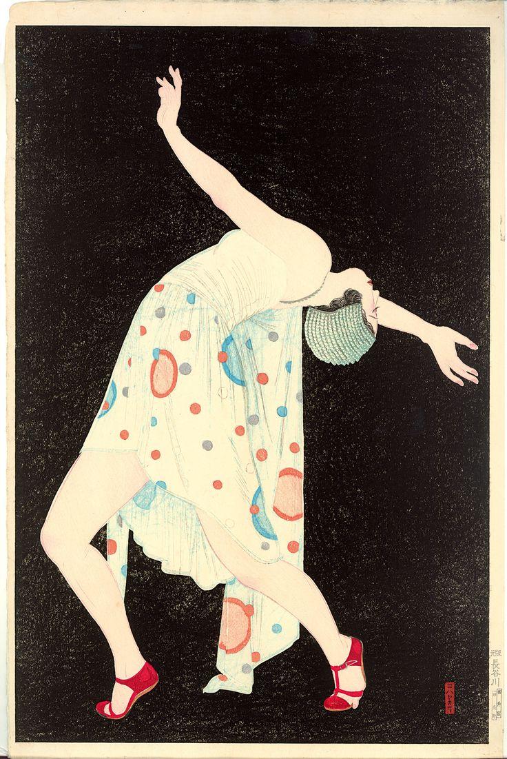 DANCER, Kobayakawa Kiyoshi (1899- 1948). Kleurenhoutsnede op papier, 1932, P0140. Elise Wessels Collection – Nihon no hanga