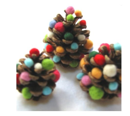 the kids would love to go collect pine cones outside and make these
