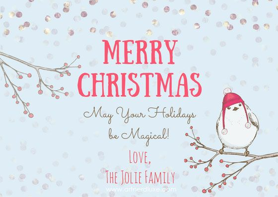 Vintage Bird Christmas Card created using Canva via https://www.canva.com/artnerdluxe. Personalize your own version with Canva. Artwork elements © ArtnerDluxe. www.artnerdluxe.com