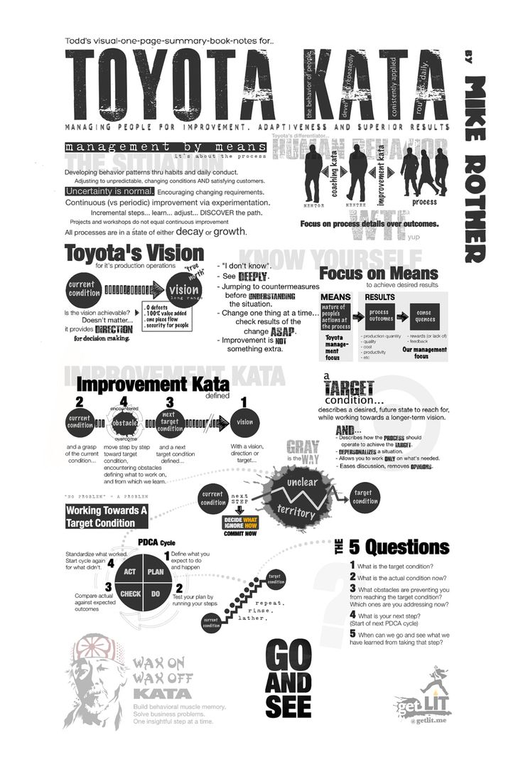 Toyota Kata - summary page of the book