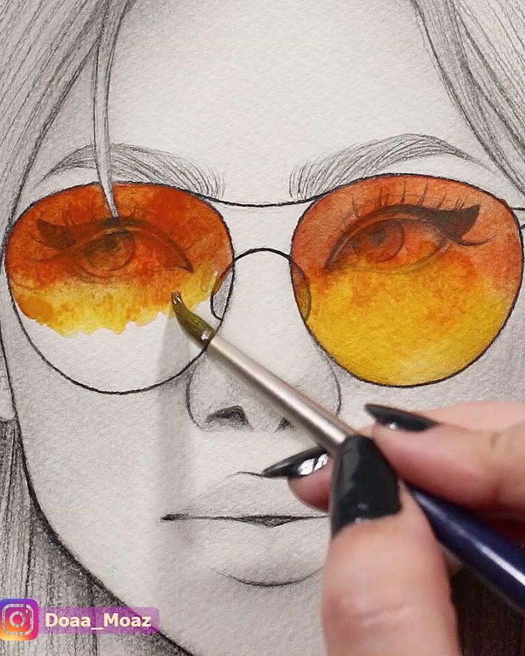 Satisfying watercolor video ♥
