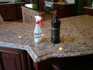 Granite Sealers Are Easy To Apply. Several Thin Coats Provide The Best  Protection. PHOTO