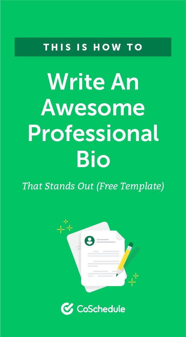 Purchase a professionally written bio