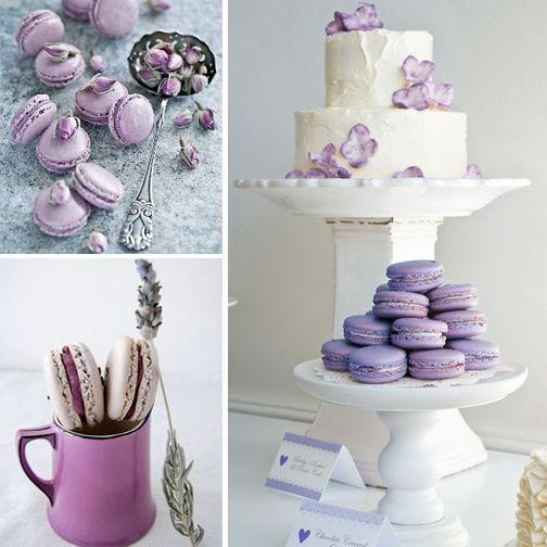 Düğün gününüzde lila renginin büyüsünü yansıtan lavantalı macaronları tercih edebilirsiniz.