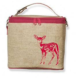 Small Cooler Bag, Pink Fawn