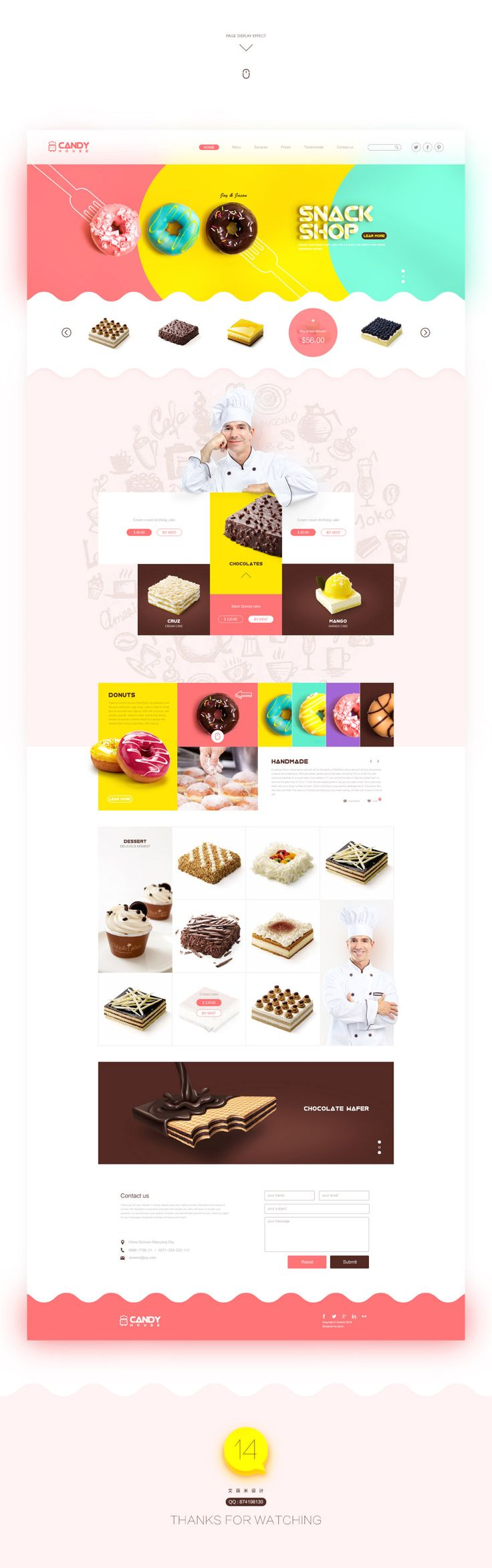 查看《甜品蛋糕网页设计》原图,原图尺寸:1600x5090