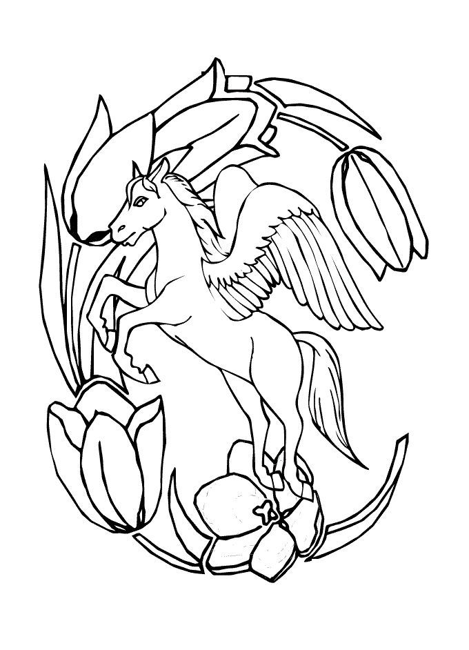 Pegasus Unicorn Coloring Pages Malvorlage Einhorn Malvorlagen Pferde Kostenlose Ausmalbilder