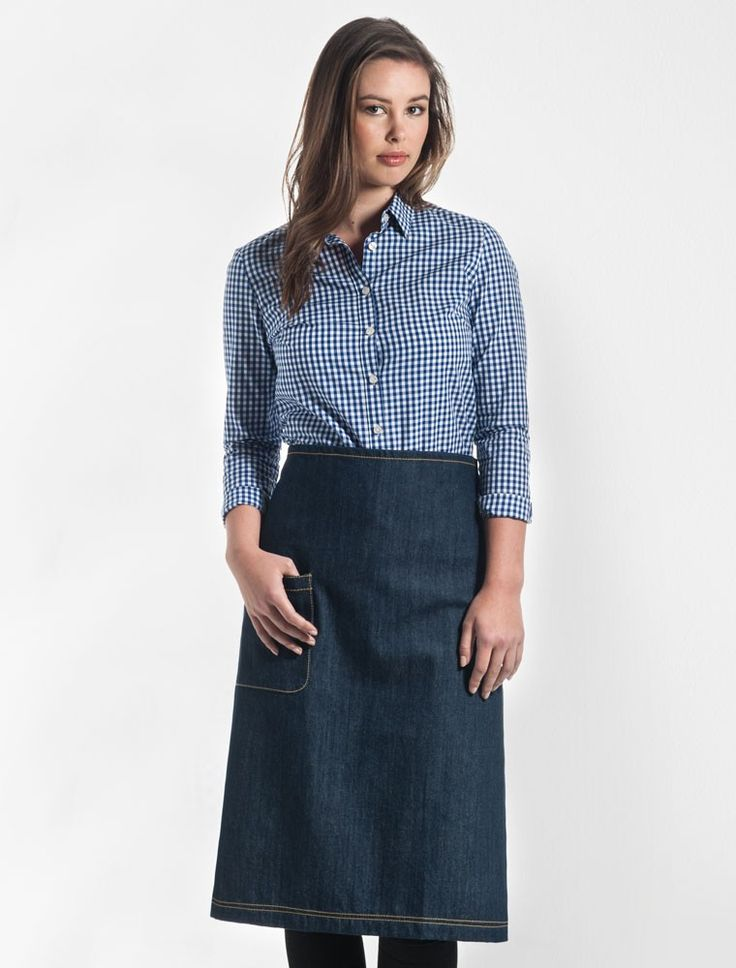 PLEASE NOTE: This will be the last run of Harvest Waist Aprons. If you would like to purchase a waist apron as part of an ongoing uniform, we offer a great range of other styles to choose from. No returns or exchanges are accepted on sale items – all purchases are final. Our Harvest Waist Apron in Indigo Denim is part of our original apron range designed exclusively in Melbourne. This apron is both practical, featuring a spaciouship pocket for storing essentials; and stylish, designed in a…