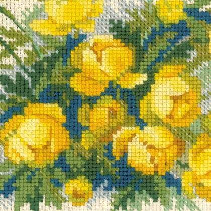 Купавки, набор для вышивки Риолис 1515