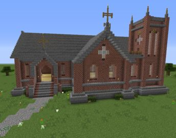 Unfurnished Small Victorian Church on GrabCraft - also a very cool web site for Minecraft plans