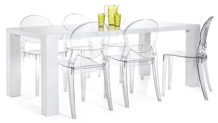 TWIST-ruokapoyta ja 6 IGLOO-tuolia