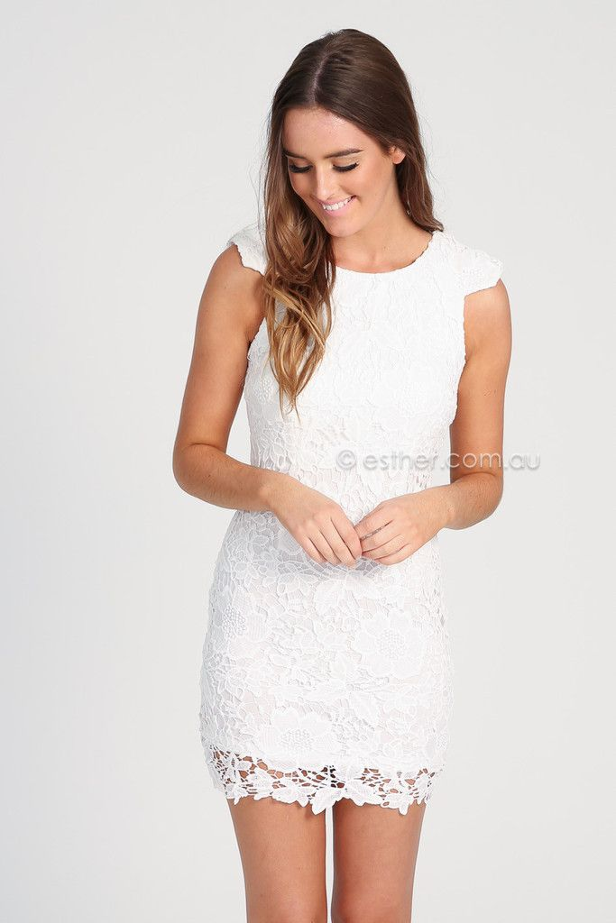 harriet lace dress white esther clothing australia and