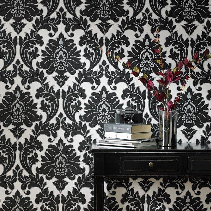 Majestic Black White Removable Wallpaper Black And White Wallpaper White Home Decor Black Gold Bedroom