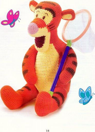 Amigurumi Tigger - FREE Crochet Pattern / Tutorial in ENGLISH (click on right arrow to get to pattern)