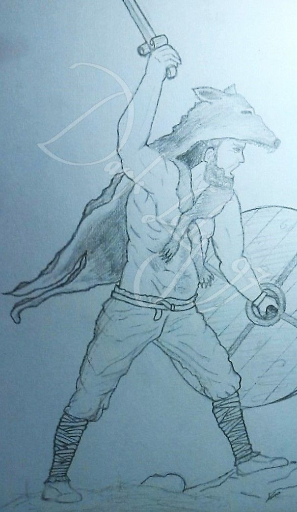 draw celtic warrior berserker by Rigoni Chiara // Dark Lady 97