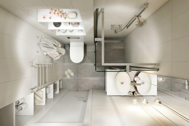 déco de studio et plan de maison avec salle de bain petit espace