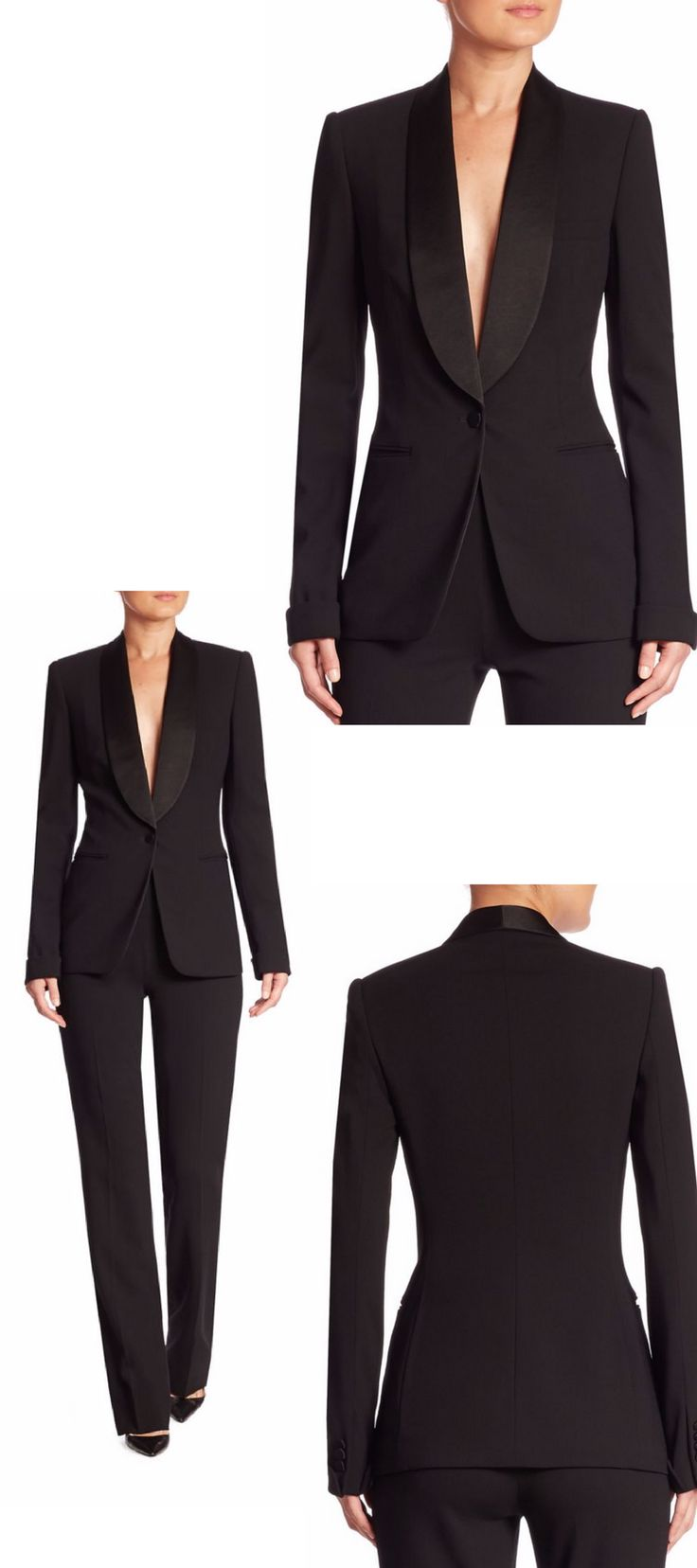 Ralph Lauren Collection Sawyer Wool & Silk Jacket Color:Black Size: Size Guide  Fit Predictor Calculate your size 246810121416 USD$1,990.00 Earn 3980 points when purchasing with the SaksFirst Credit Card  -Quantity 1 + SHIP ITPICK UP IN STORE ADD TO BAG FREE 2-Day Shipping & Free Returns Learn More | Sign In Details Silk lapels elevate classic wool jacket Silk lapels Shoulder pads Long sleeves with fold-over button cuffs Single front button closure Side welt pockets Silk lining
