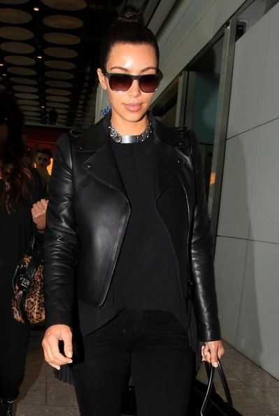 Kim Kardashian, Valentino leather jacket