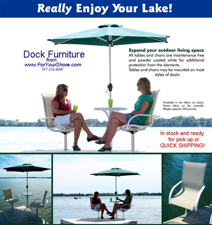 Cool Mood Dock Chairs Table And Umbrella For Your Lake