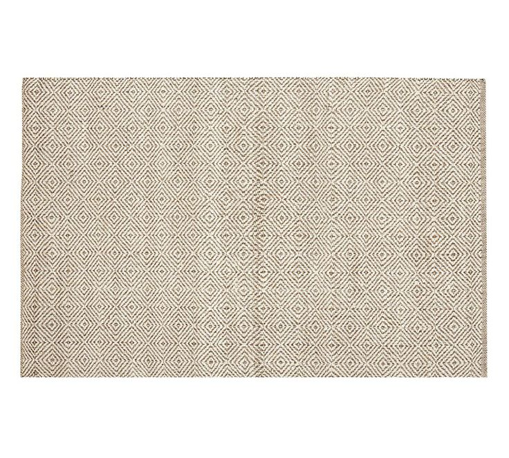 Duncan Diamond Natural Fibre Rug - Ivory