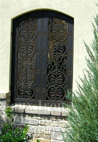 Faux Wrought Iron Exterior Window Insert Diy Pinterest