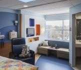 Patient Room, Cohen Children's Medical Center of NY.