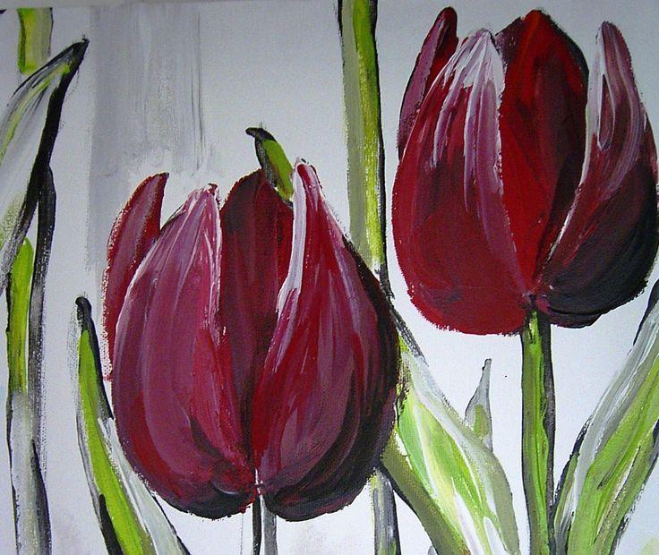 Afbeeldingsresultaat voor geschilderde bloem op hout