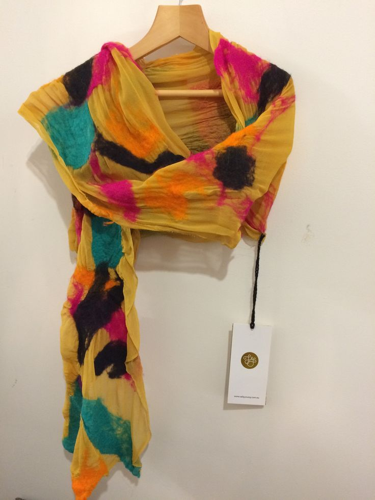 Hand felted Scarves by Sally Young Designs from $84