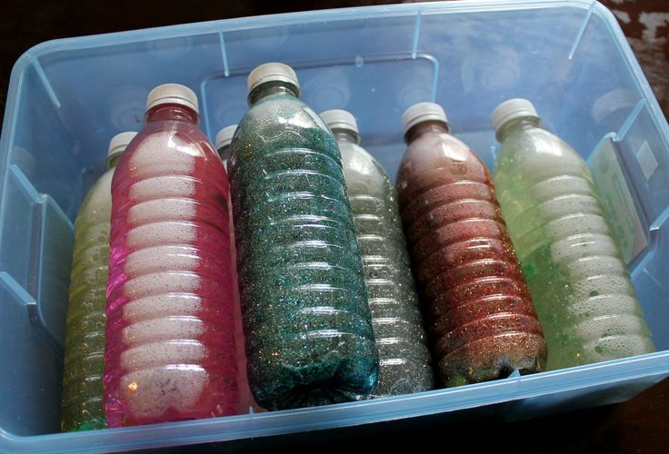 Sensory Glitter Bottles - a fun and soothing DIY craft to encourage recycling!