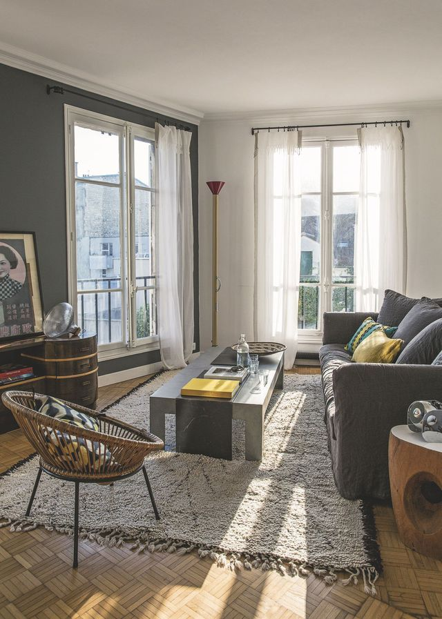 Les 25 meilleures id es de la cat gorie appartement parisien sur pinterest appartements for Voilage salon moderne