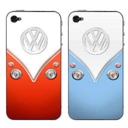 VW iPhone 4 Vinyl Skin;  aha aha