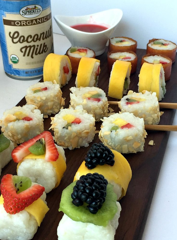 Channel your inner sushi chef and learn how to make gluten-free fruit sushi in this blog post. This is a GREAT dessert that will impress your guests!