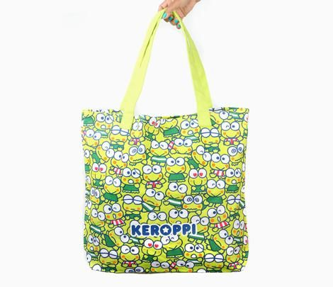Keroppi Giant Tote Bag: Busy Day