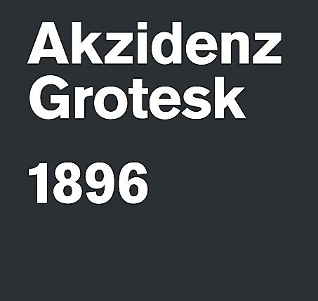 Credit: Domenic Lippa Akzidenz-GroteskProbably the best typeface ever designed. First released by the