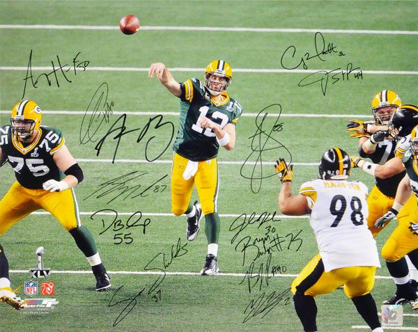 2010-11 Green Bay Packers Super Bowl Team Signed Photo Hand-Signed. #nfl #greenbaypackers